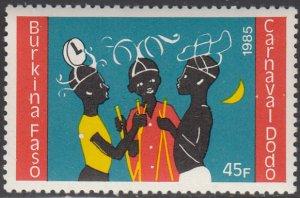 Burkina Faso 1986 MNH Sc #758 45fr 3 dancers Dodo Carnival
