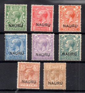 Nauru KGV 1916 mint MH collection to 1/- WS16650