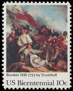 #1564 10c 200th Anniversary Battle of Bunker Hill 1975 Mint NH