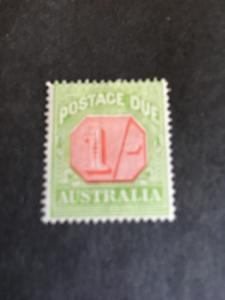 Australia 2015 Scott #J45a Mint F+-H Cat. $45. One Sh. Postage Due 1923 Perf. 14