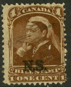 CANADA NOVA SCOTIA 1868 QV 1c BILL STAMP REVENUE VDM. NSB1 USED