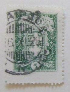 A11P5F56 Litauen Lituanie Lithuania 1926-27 Wmk Intersecting Diamonds 5c used