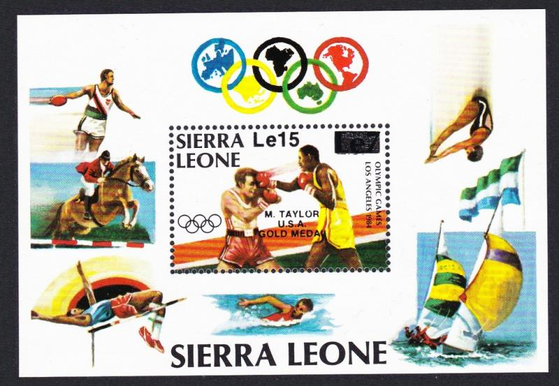 Sierra Leone Olympic Gold Medal Winners Los Angeles MS SG#MS884