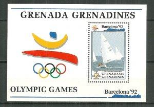 1992 Grenada Grenadines Olympics souvenir sheet MNH