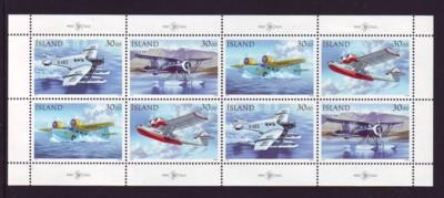 Iceland Sc 773-6 1993 Seaplanes stamp sheet mint NH