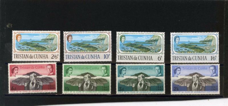 TRISTAN DA CUNHA 1967 SMALL COLLECTION SET OF 8 STAMPS MNH