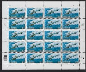 Catalog # 3372 Sheet of 20 Stamps Submarine Los Angeles Class US Navy
