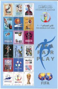 MINI SHEET  FROM QATAR POST FOR 2002 OLYMPIC GAME  COMPLETE SET  ISSUE  MNH