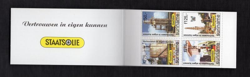 Surinam  #1107a   1997  MNH  state oil company  complete booklet