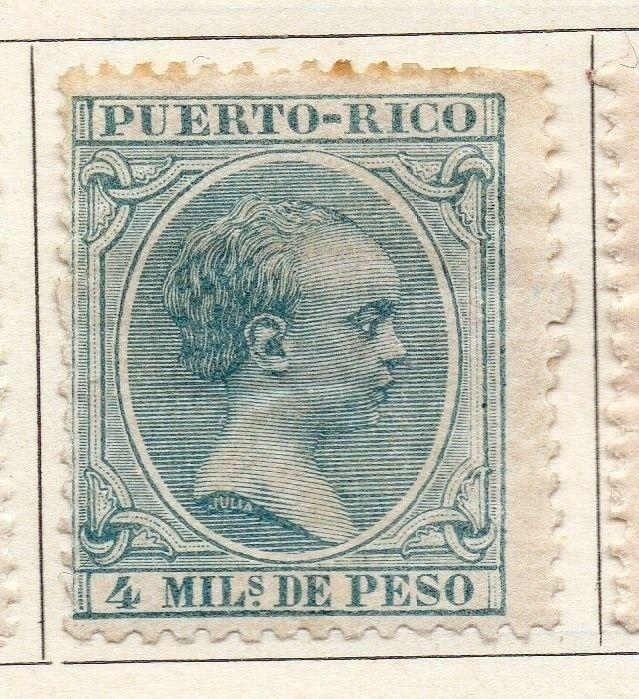 Porto Rico 1896 Early Issue Fine Mint Hinged 4m. 125349