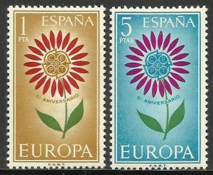 Spain Europa 1964 Scott# 1262-1263 MNH