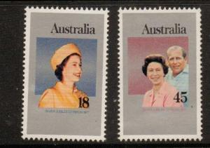 AUSTRALIA SG645/6 1977 SILVER JUBILEE MNH