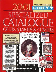 2001 Scott Specialized Catalogue of U.S. Stamps and Covers,