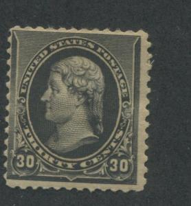 1890 US Stamp #228 30c Mint Hinged Fine Original Gum Catalogue Value $280