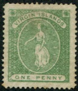 Virgin Islands SC# 9 (SG# 22b) St Ursula, perf 11 Light cancel