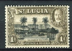ST. LUCIA; 1936 early GV issue fine Mint hinged 1d. value