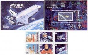 Marshall Islands 1998 John Glenn Stamps 7 Stamp Booklet Scott #677a