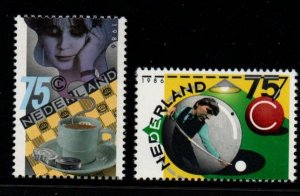 Netherlands Sc 705-06 1986 Billiards & Checkers stamp set mint NH
