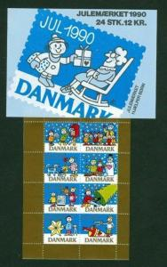 Denmark.  Booklet  1990  Christmas Seals  Mnh.  Happy Children Christmas Time