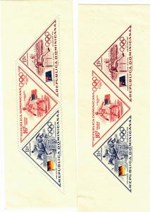 Dominican Republic - 1957 - SC C103-05 - NH - 2 Minature sheets