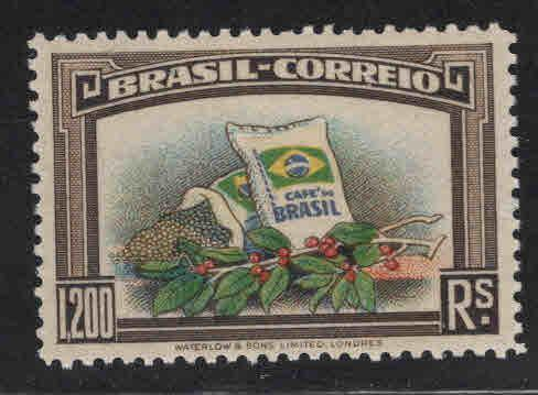 Brazil Scott 452 MH* 1938 Brazillan Coffee stamp