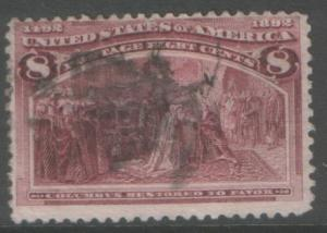 USA 1893 8c Columbian #236 sound used