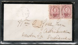 Canada #17iii Used On Mourning Cover **With Certificate**