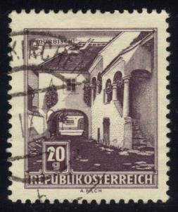 Austria #618A Farmhouse at Morbisch; used (0.25)