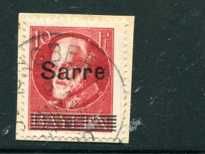 Saar  variety tied to piece signed by A. Burger  VF