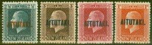 Aitutaki 1917 set of 4 SG15-18 Fine Lightly Mtd Mint