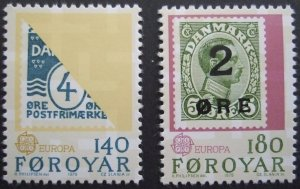 Faroe Islands #43-44 Fa45-46 MNH CV$1.00 Europa