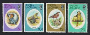 Tristan da Cunha Thrush Finch Birds Seals Wildlife Conservation 4v SG#255-258