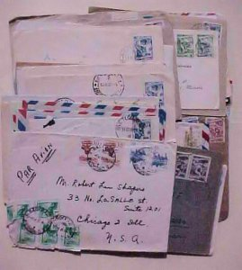 YUGOSLAVIA 50 SMALL COVERS AFTER 1950's ALL FOREIGN DESTINATIONS INCLUDES 27
