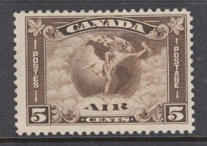 Canada Sc C2 MLH. 1930 5c olive brown Mercury & Globe Air Mail, F+