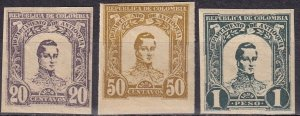 Colombia Antioquia #124-6   F-VF Unused Imperf CV $10.00  (Z6272)