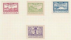POLAND 1918 PRZEDBORZ local post set hinged mint............................A612