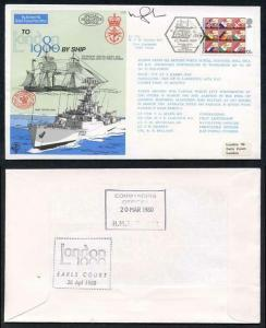 C70b To London by Ship 1980 Signed by Lt Cdr Gardner (D)