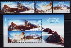Australian Antarctic Territory L168-171, L171a MNH - Mountains Set & Souvenir...