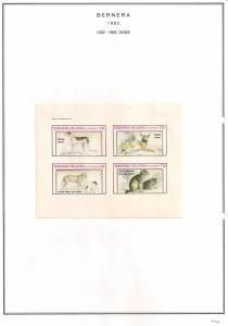 SCOTLAND - BERNERA - 1982 - Dogs (1) - 4v Imperf Sheet - MLH