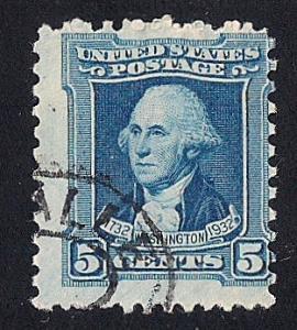 710 5 cent Washington Peale Blue Stamp used AVG
