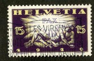 SWITZERLAND 192 USED SCV $4.00 BIN $1.75 PAX