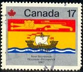 Provincial Flag of New Brunswick, Canada stamp SC#824 Used