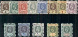 CAYMAN ISLANDS #32-44, Complete set, og, LH, VF, Scott $283.25