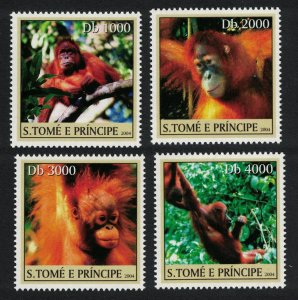 Sao Tome Chimpanzee Monkeys 4v