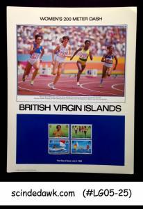 BRITISH VIRGIN ISLANDS - 1984 WOMEN'S 200M DASH / OLYMPICS PANEL MNH