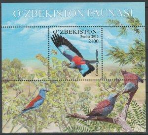 Uzbekistan 2016 Birds 4 MNH stamps