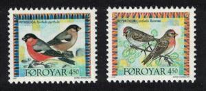 Faroe Is. Redpolls Bullfinches Birds 2v issue 1997 SG#321-322 MI#315-316 SC#314a