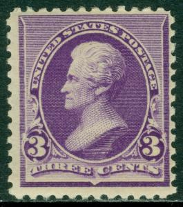 EDW1949SELL : USA 1890-93 Scott #221 Mint Never Hinged. Catalog $200.00.