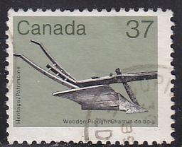 Canada 927 Wooden Plough 1983
