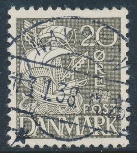 Denmark Scott 232 (AFA 204), 20 øre Caravel type I, VF used